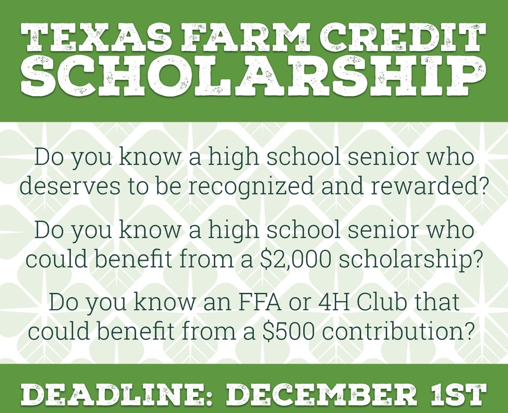 Texas Farm Credit Scholarship