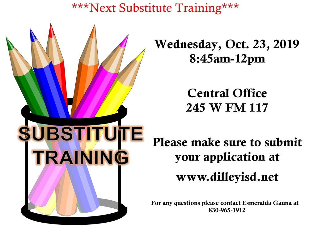 Next Substitute Training