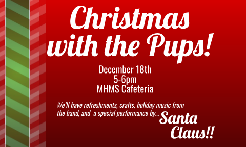 invitation to MHMS Christmas with the Pups