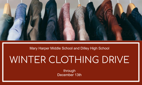 Winter Clothing Drive announcement