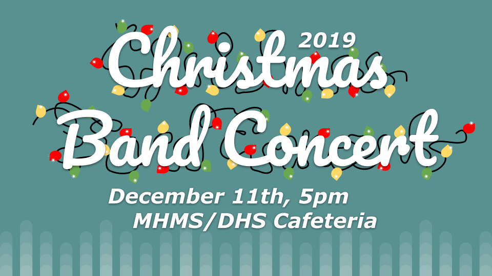 Band Concert announcement