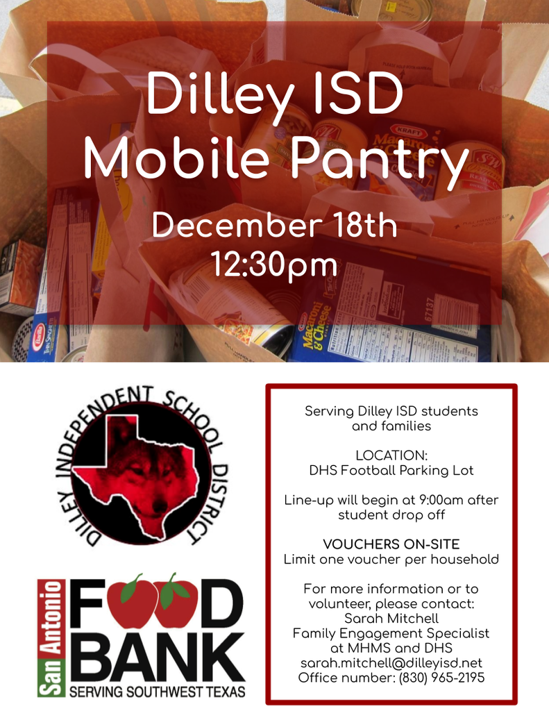 Dilley ISD mobile pantry dec 2019 flyer