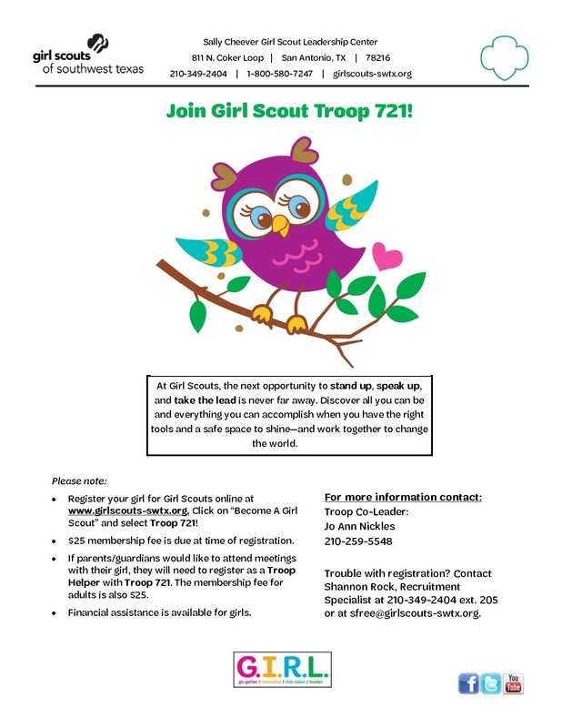 Girl Scout Troop Information