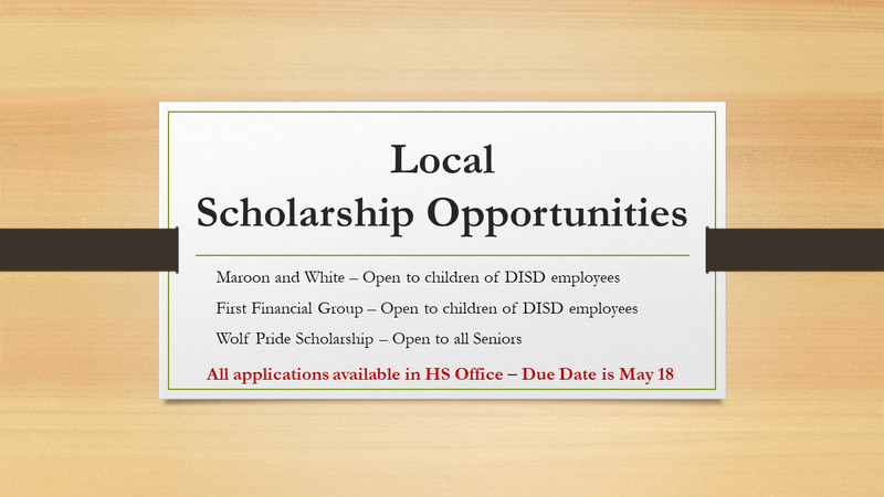 Local Scholarship Opportunities